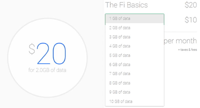 AndroidPIT Project Fi Plan Costs 2