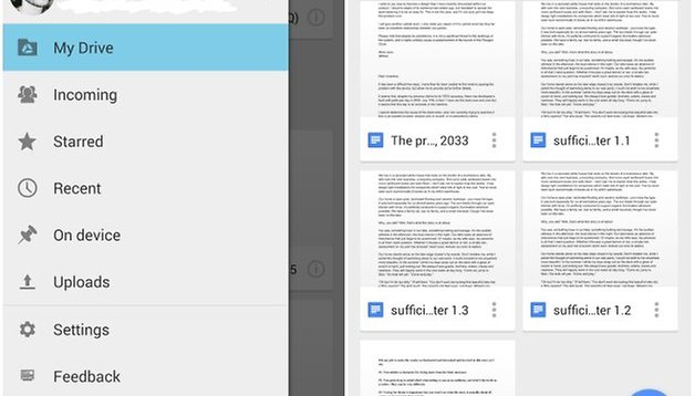 Material Design shows up in Google Docs, Drive, Slides and Sheets