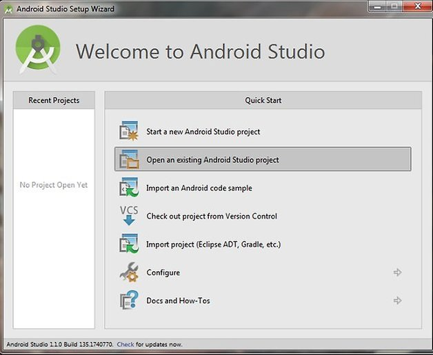 androidpit android studio setup welcome