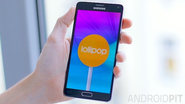 androidpit galaxy note 4 lollipop teaser 2