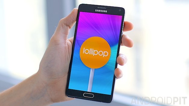 androidpit galaxy note 4 lollipop teaser 3