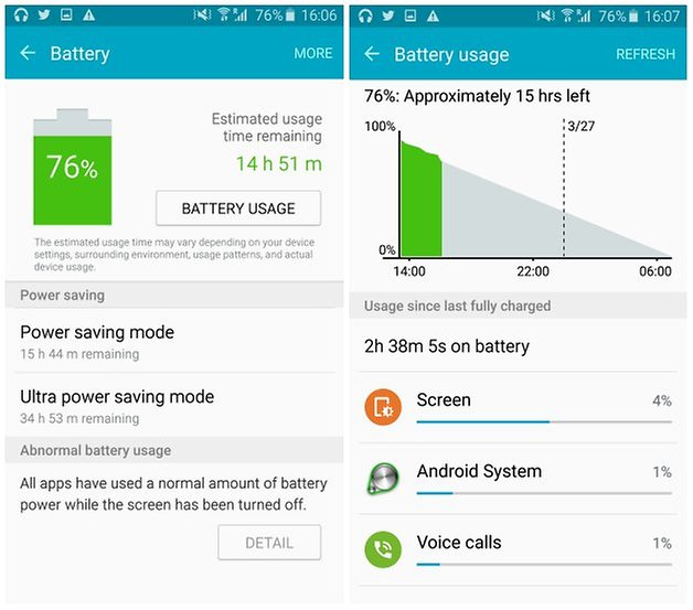 androidpit galaxy s6 edge battery