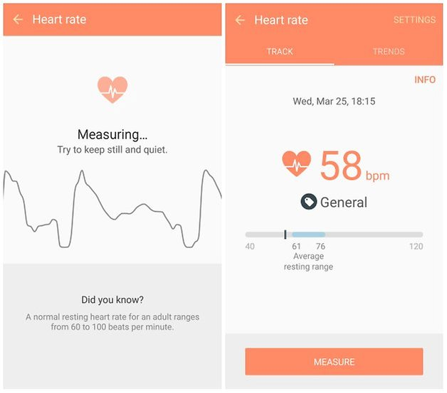 androidpit galaxy s6 heart rate