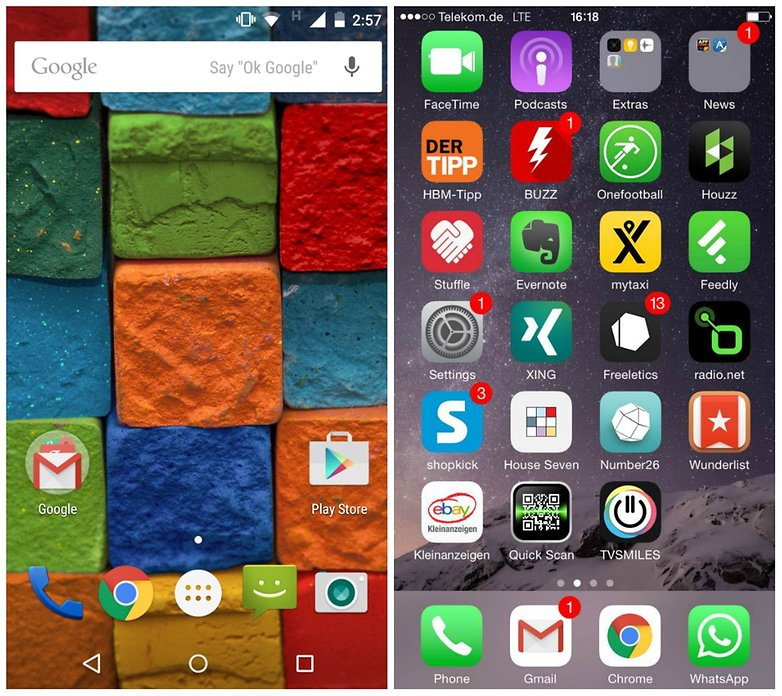 androidpit moto x 2014 vs iphone 6