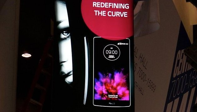 LG G Flex 2 poster spotted at CES 2015 - will it be announced later today?