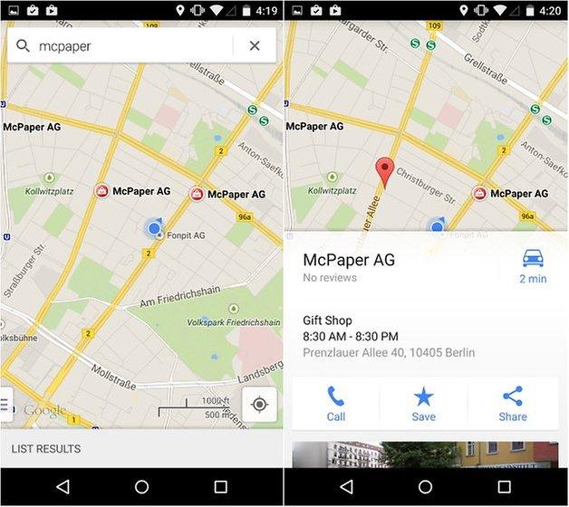 androidpit nexus 5 maps screenshot