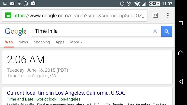 androidpit google search tips time zone
