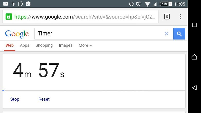 androidpit google search tips timer