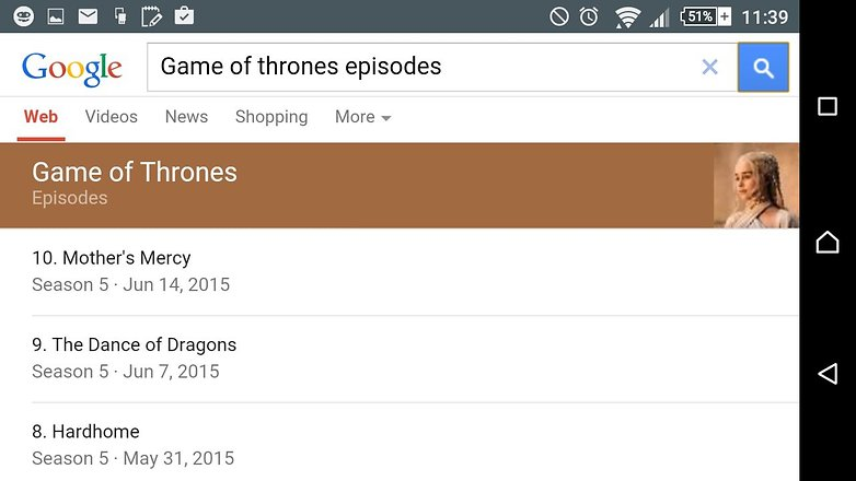 androidpit google search tips tv show episodes