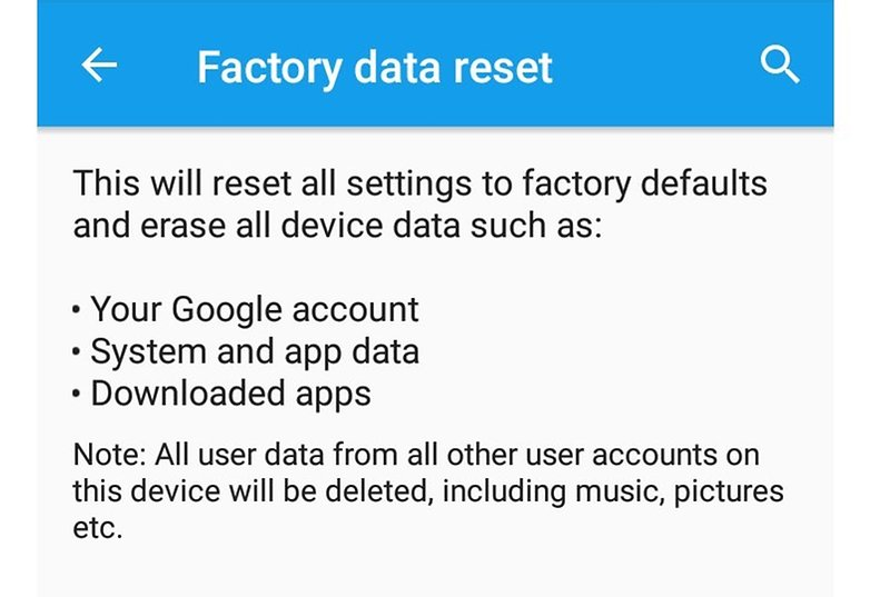 androidpit android myths factory reset