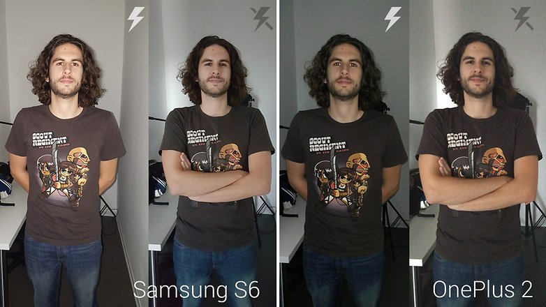 androidpit galaxy s6 vs oneplus 2 flash