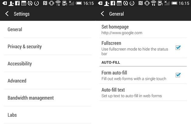 androidpit htc one m7 web settings 2