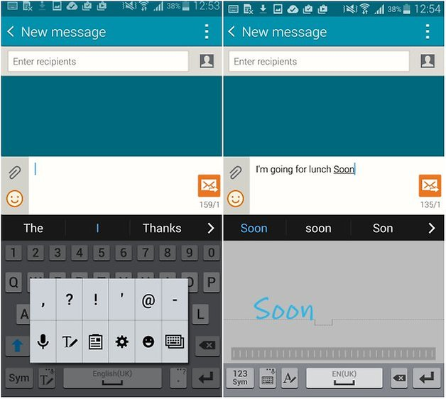 androidpit galaxy note 4 s pen screenshot message