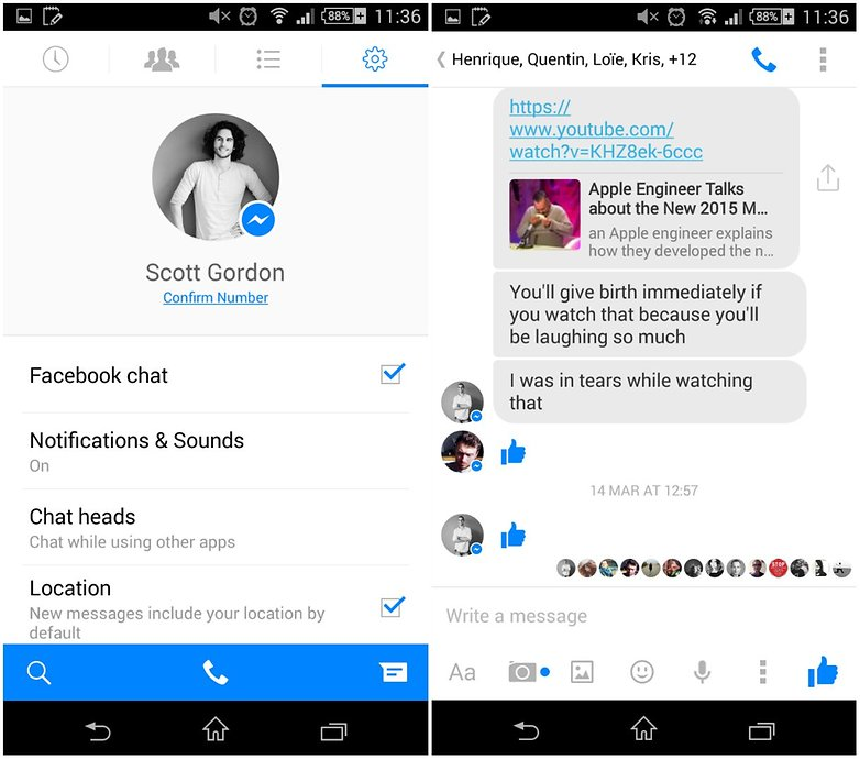androidpit facebook messenger app screenshot 3