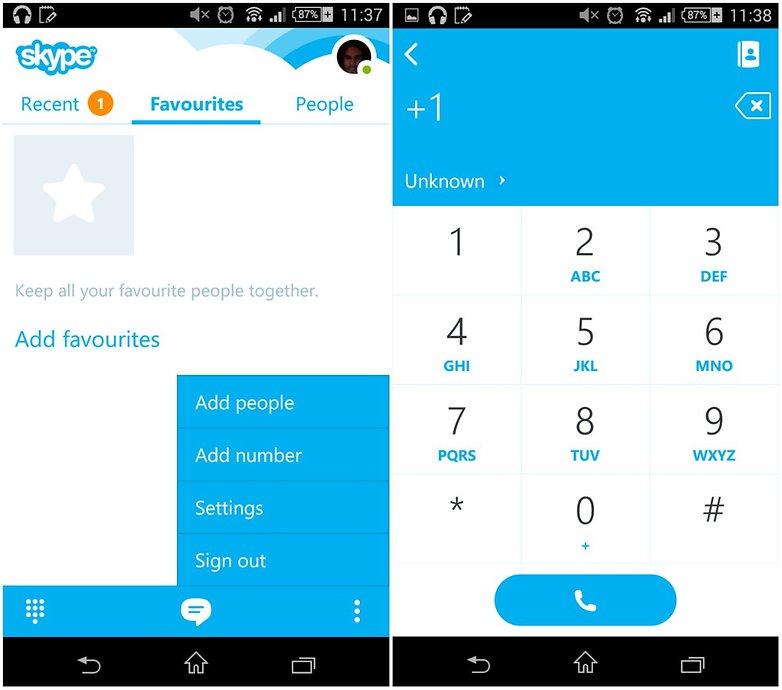 androidpit skype app screenshot