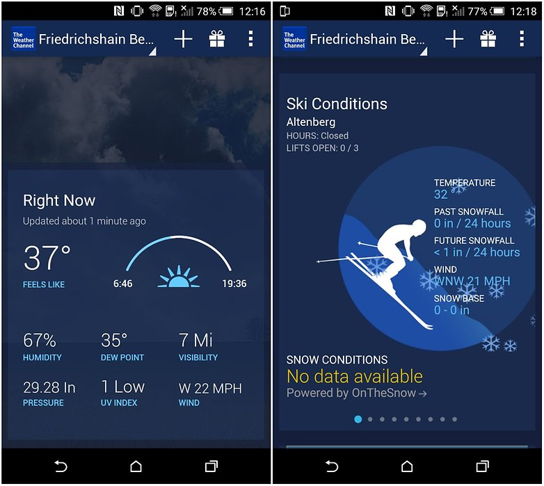 androidpit weather channel screenshot app