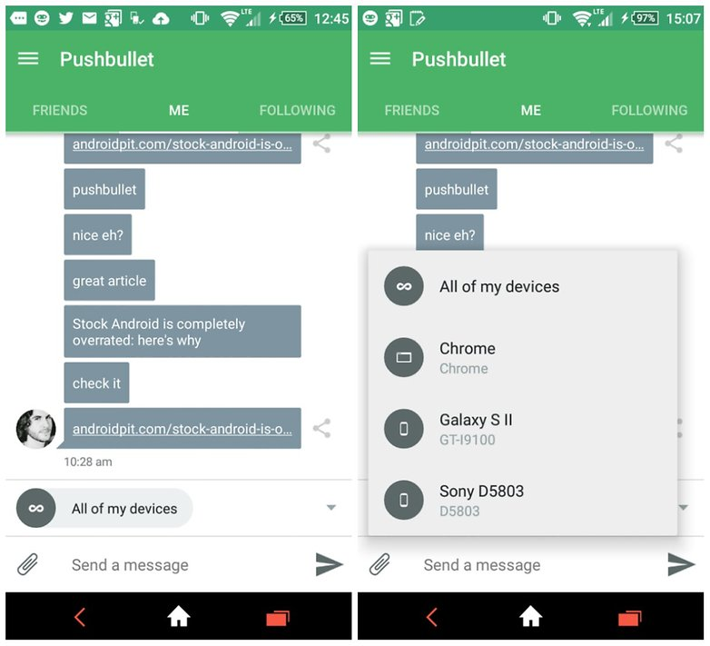 androidpit pushbullet screenshot