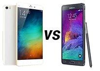 Xiaomi Mi Note Pro vs Samsung Galaxy Note 4 - Comparación