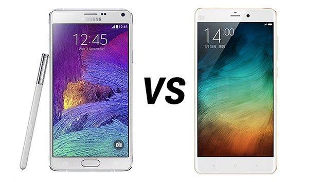 Samsung Galaxy Note 4 vs MI note tr