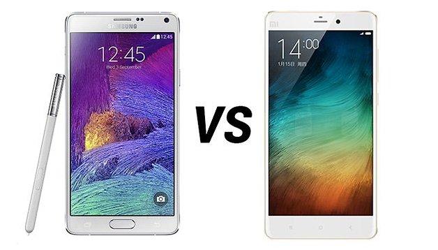 Samsung Galaxy Note 4 vs Xiaomi Mi Note - Comparación de phablets