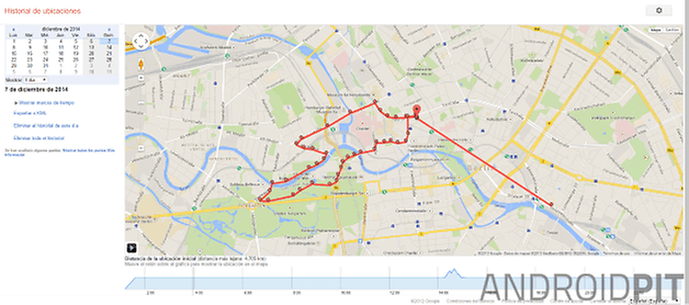 google maps historial