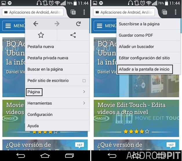 marcadores android 4
