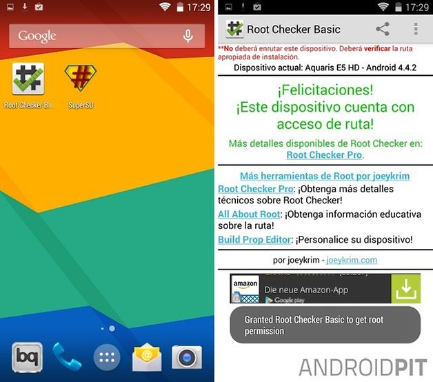 root bq aquaris e5 2