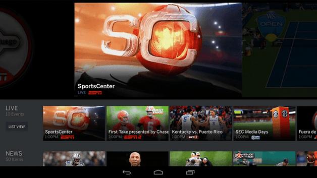 Enjoy sport on your TV.