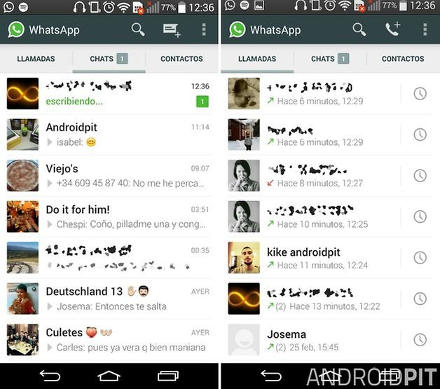 whatsapp calls activated