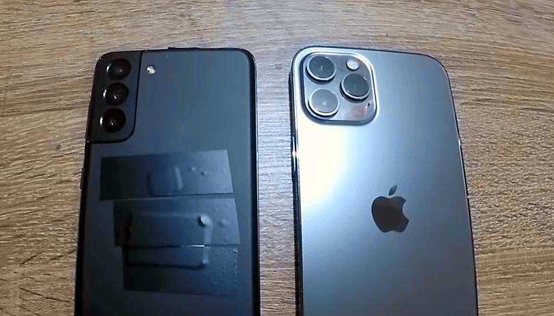 Galaxy S21 Plus aparece ao lado do iPhone 12 Pro Max em vídeo