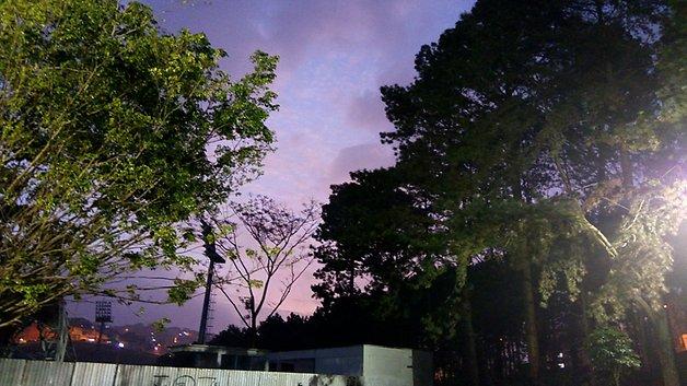 Pôr do sol capturado em modo HDR.