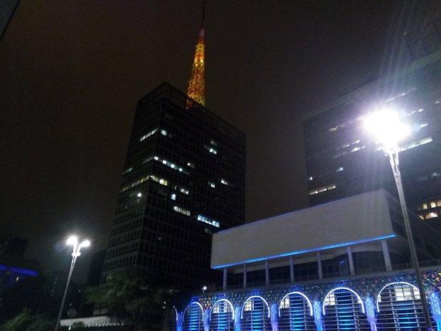 Imagem capturada em modo noturno.