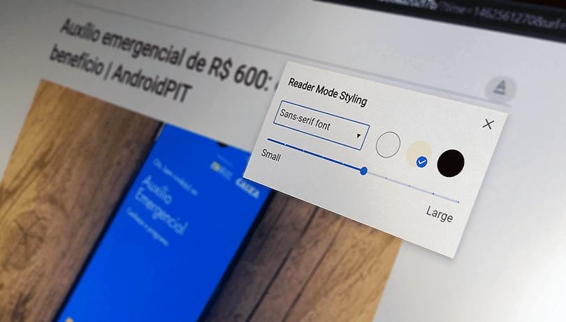 Como ativar o modo leitura escondido no Chrome para PC