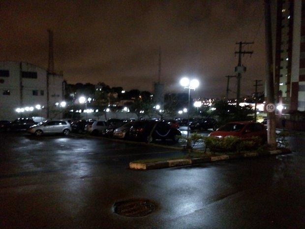 Imagem capturada com o modo noturno desativado.
