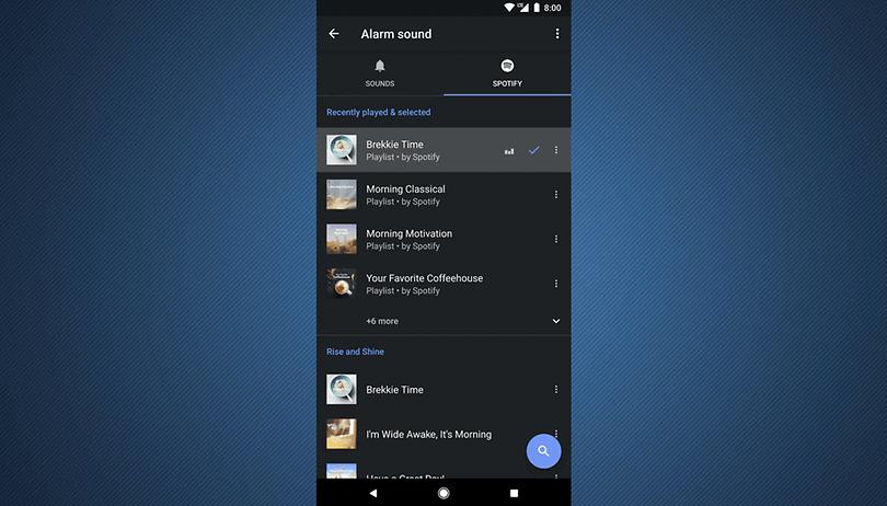 Relógio do Android ganha integração com Spotify para sons do alarme