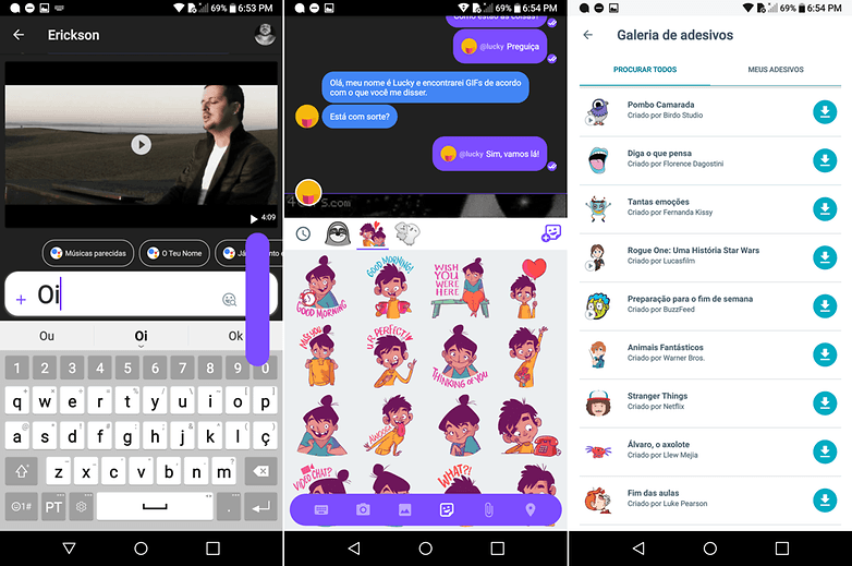 allo figuras google stickers