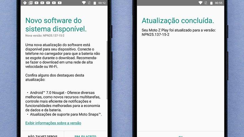 android nougat moto z play brasil