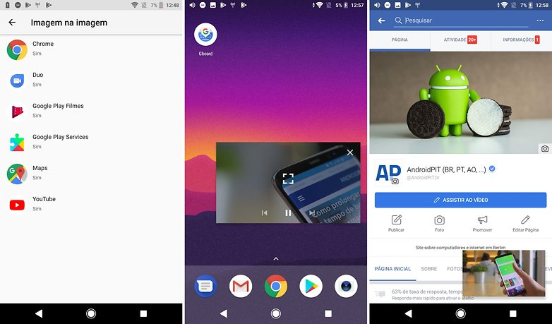 android oreo pip picture in picture imagem