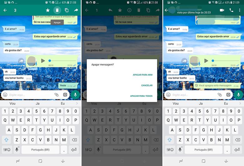 apagar mensagens whatsapp update
