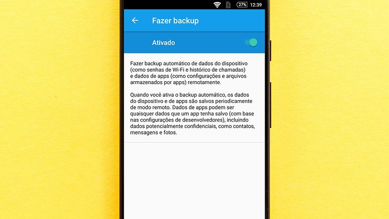 backup account android