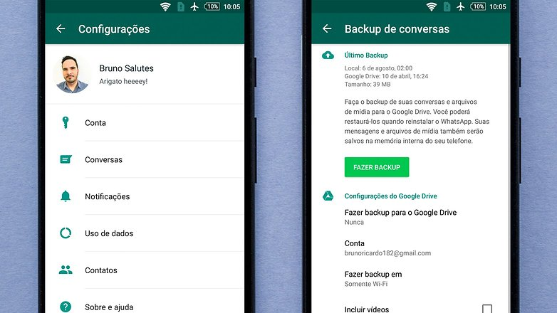 backup whatsapp googledrive new