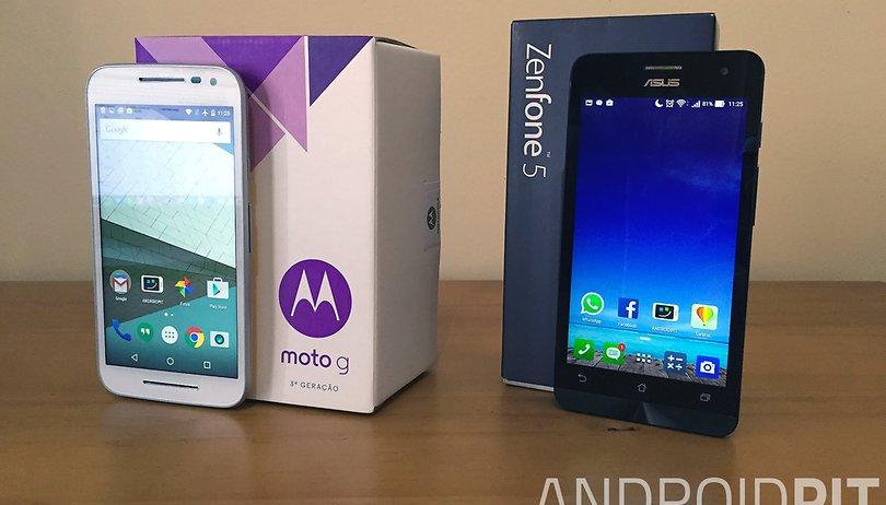 Moto G 2015 vs. Zenfone 5: comparativo de números e custo/benefício