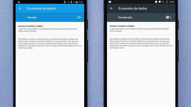 economizador de dados android nougat