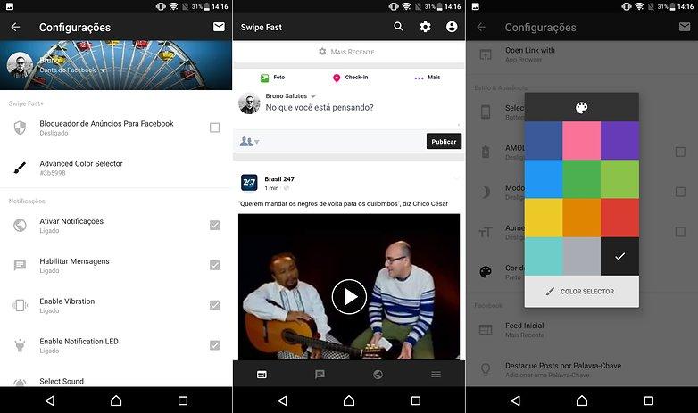 facebook swipe fast app new