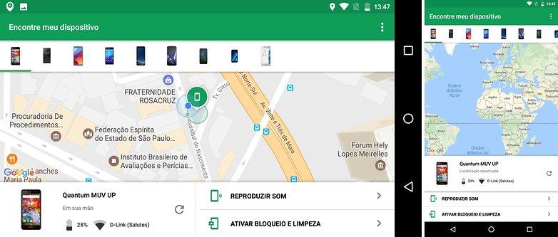 find my device gerenciador tips security