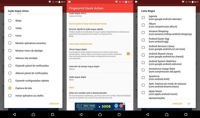 fingerprint quick action new apps