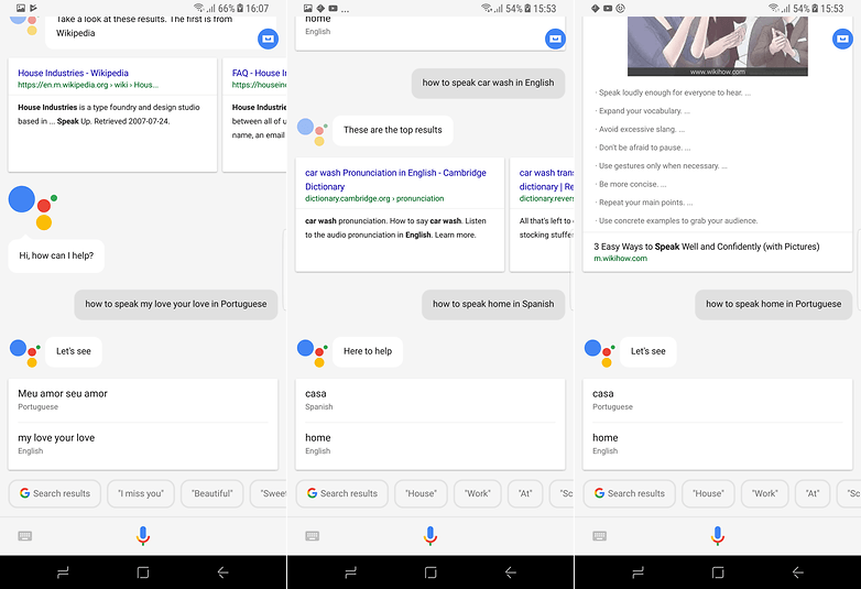 google assistant speak ios siri