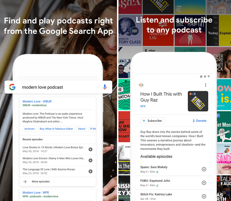 google casts podcasts new