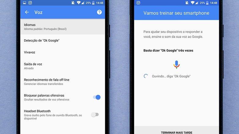 google now voice problm