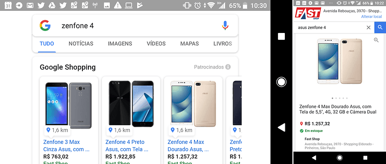 google shopping store local